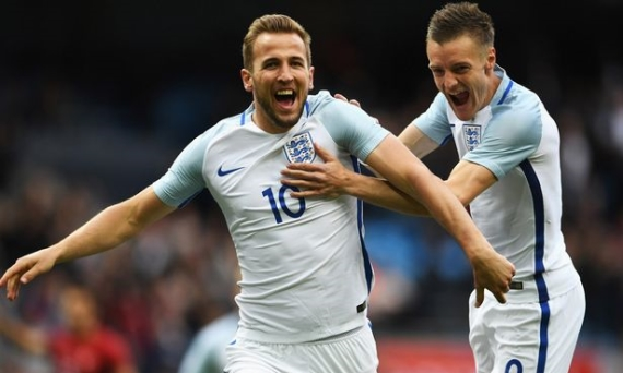 England duo Harry Kane and Jamie Vardy