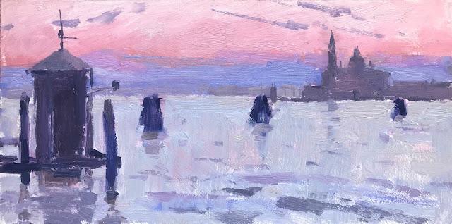 #387 'Sunrise 1 & 2, San Giorgio Maggiore' 6×12″ & 20x50cm