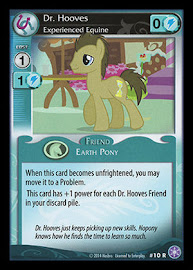 MLP Dr. Hooves, Experienced Equine The Crystal Games CCG Card