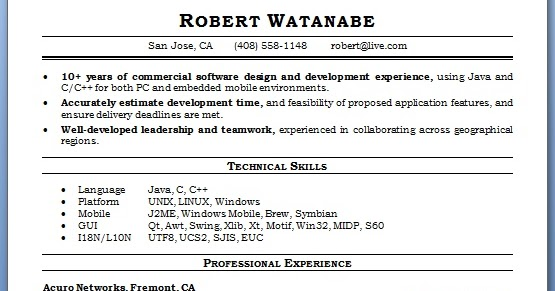 software engineer resume building format in word free download
