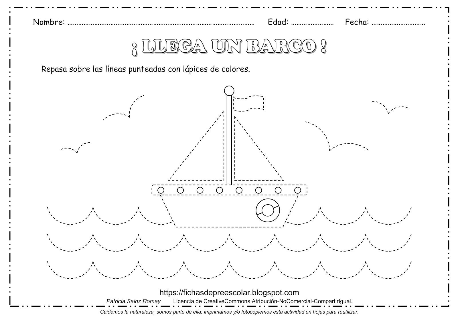Dibujos Para Colorear Para Ninos De 5 A 6 Anos: FICHAS DE EDUCACIÓN PREESCOLAR: EJERCICIOS DE