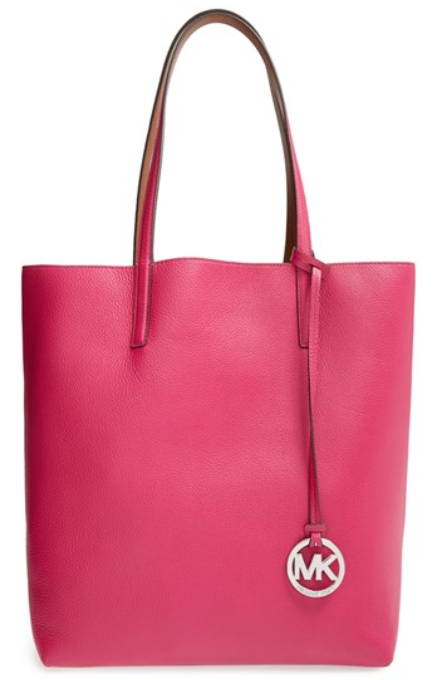 e189372f173dbb MICHAEL Michael Kors Izzy North/South Large Leather Tote Retail Price:  USD298 Price: RM1630 Colour: Black/Luggage, Optic White/Aquamarine,  Fuchsia/Luggage