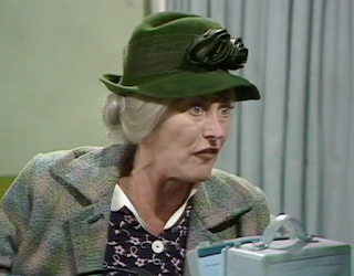 Stella Tanner in a BBC comedy sketch with Spike Milligan and John Bluthal in 'Q8'