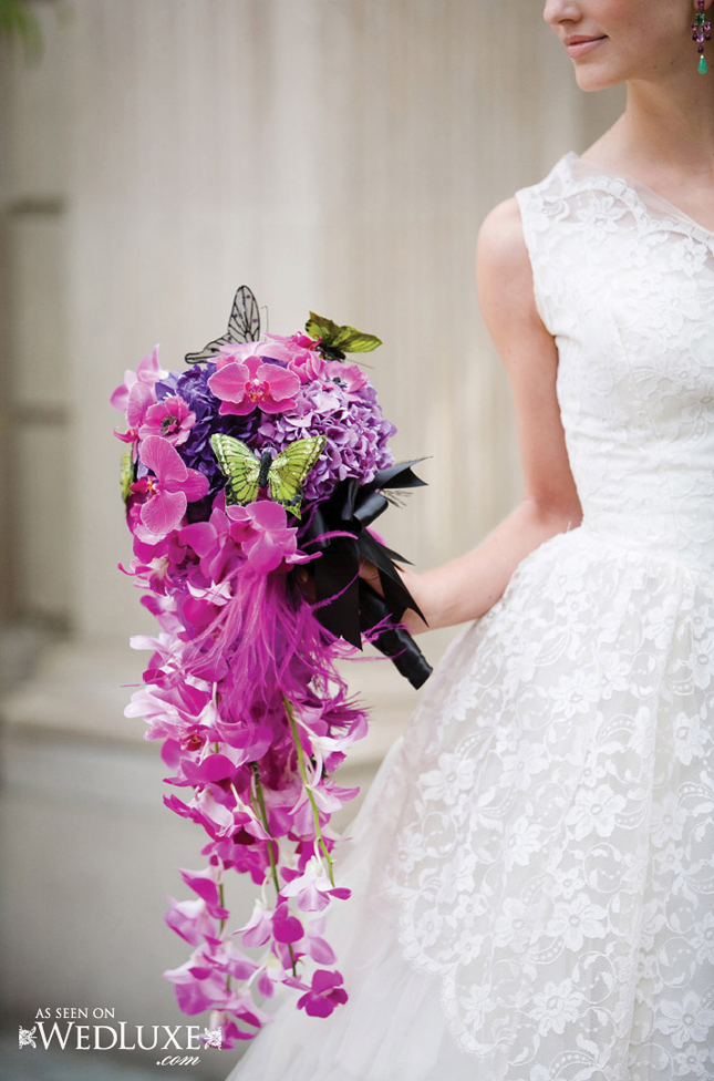 Wedding Trends Cascading Flowers