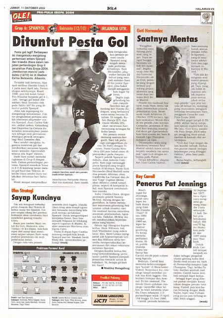 PRA-PIALA EROPA 2004: GRUP 6 SPANYOL VS IRLANDIA UTR