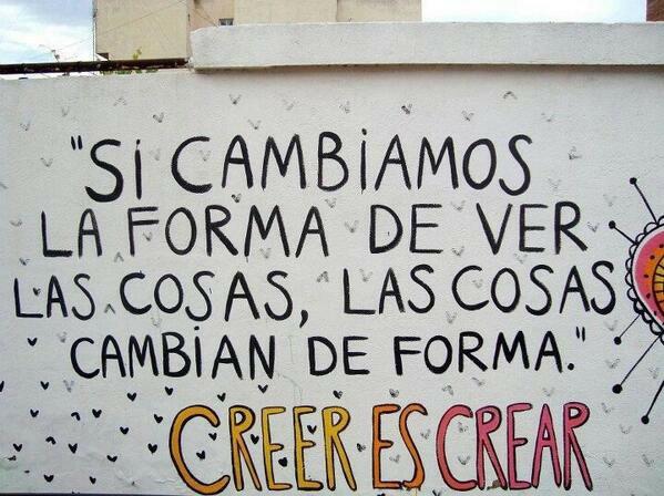 Creer es crear, eso es falso.