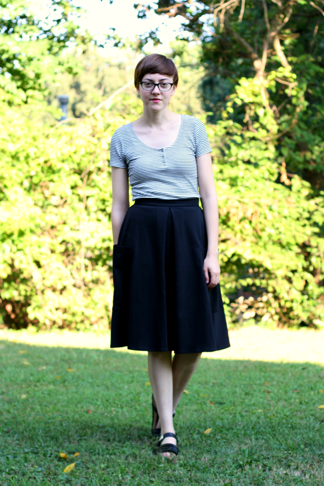 aline skirt outfit