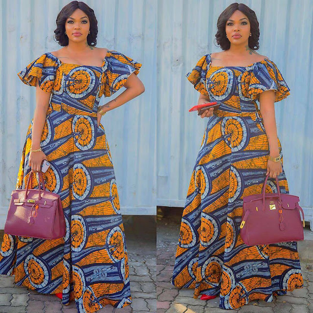 The Most Stylish  And Trending Ankara Maxi Dresses Ever Created