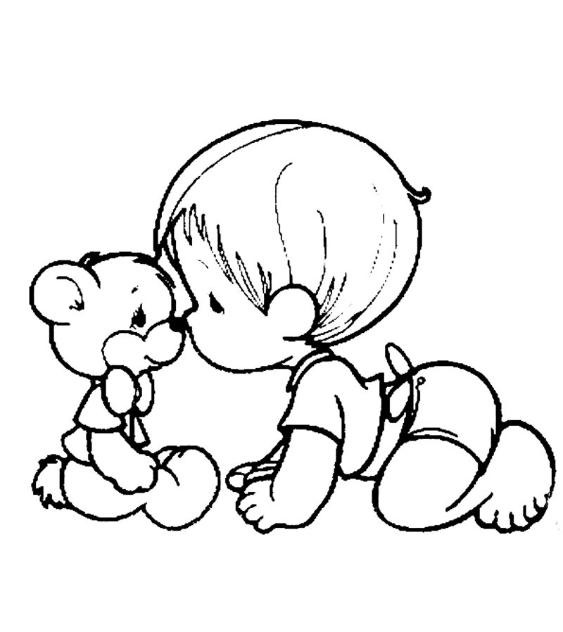 coloring pages of infants - photo#21