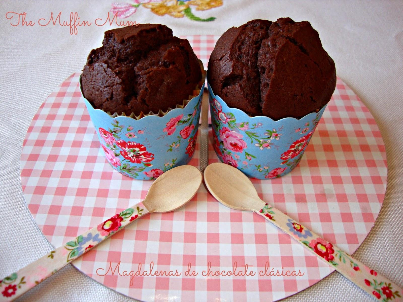 Magdalenas clasicas de chocolate