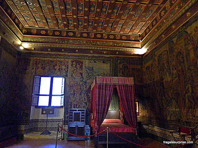 Dormitório nos aposentos reais do Alcázar de Segóvia