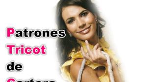 Patrones Tricot de Cartera con Flores con técnica de fieltro