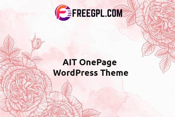 AIT OnePage WordPress Theme Nulled Download Free