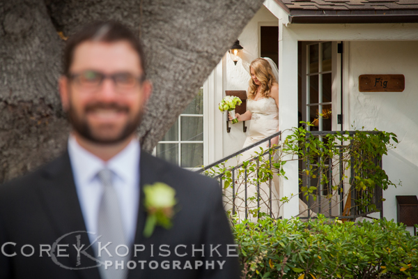 Todd hasn't seen Julie yet - Wedding Photographer Corey Kopsichke