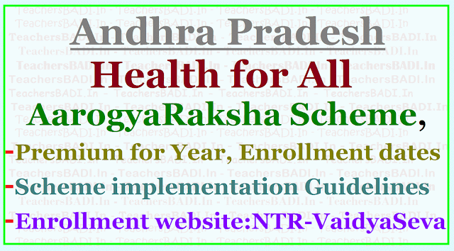 Health for All - AarogyaRaksha Scheme, Premium, Enrollment dates,Guidelines