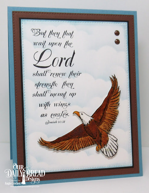 ODBD On Eagles Wings, ODBD Custom Clouds and Raindrops Dies, ODBD Custom Pierced Rectangles Dies, Card Designer Angie Crockett