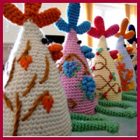 Gallinas de colores amigurumi