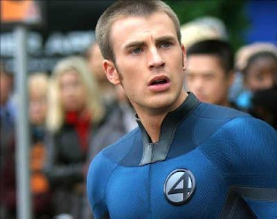 Chris Evans Tocha Humana Quarteto Fantástico Marvel  Super-Herói Fogaréu