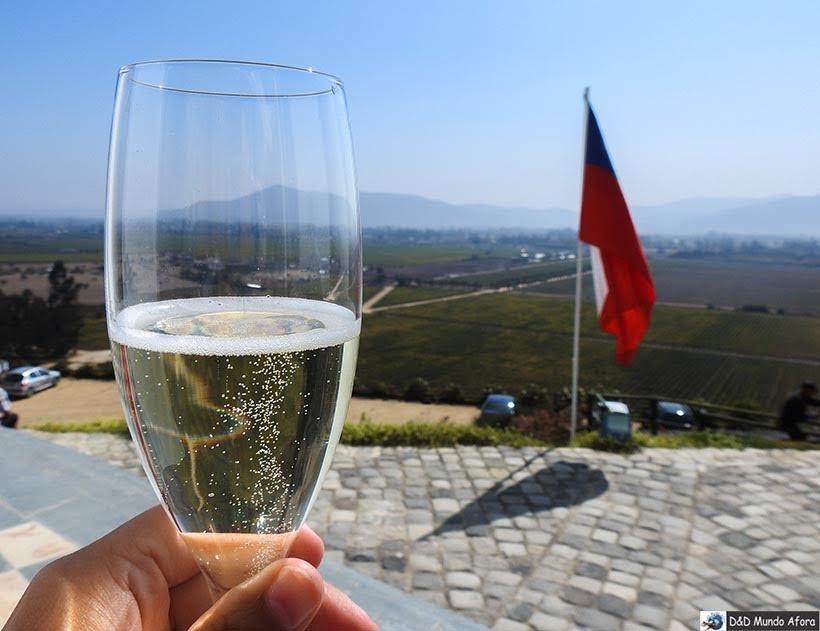 Espumante da vinícola Indomita: Vinícolas chilenas - Valle Casablanca