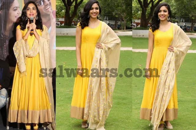 Ritu Varma Yellow Salwar