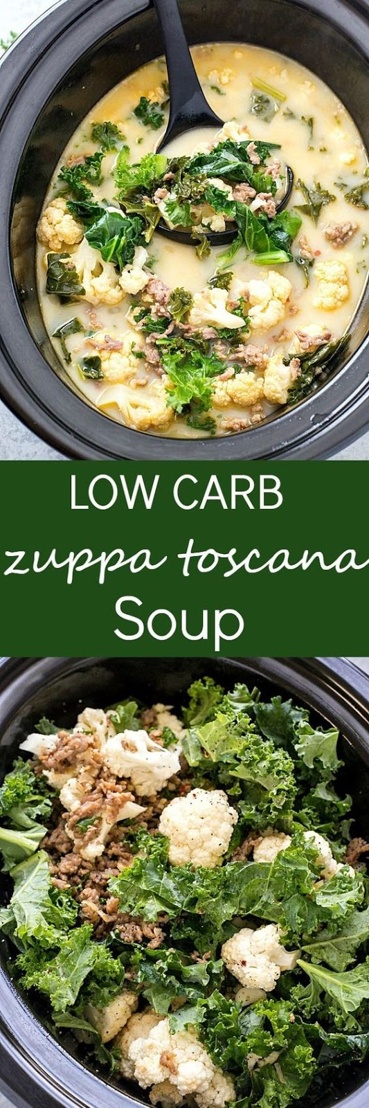 Slow Cooker Low Carb Zuppa Toscana Soup (Keto-Friendly)