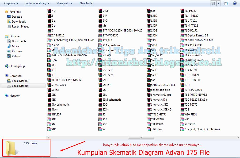 Kumpulan Skematik Diagram Advan 175 File   ADANI CHELL