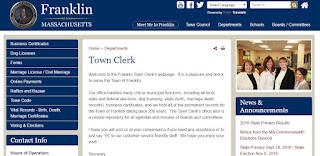 Town of Franklin: Town Clerk webpage where there will soon be a link to renew dog licenses online
