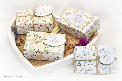 Jabón natural y artesano para bodas