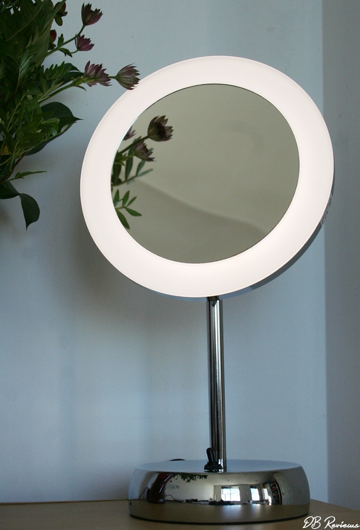 Elko LED Magnifying Vanity Mirror from Pebble Grey
