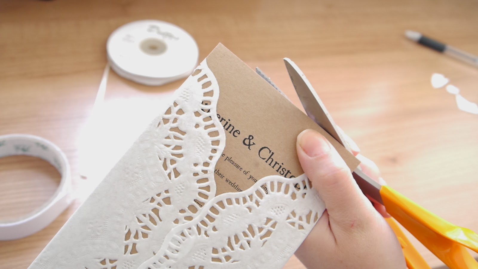 photo of how to make rustic wedding invite