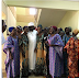 The Newly rescued Chibok girls looking all cleaned up in a group picture with Sen Ali Ndume