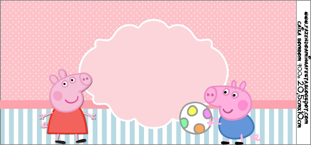 Peppa Pig Free Printable Labels and Toppers Oh My Fiesta! in english