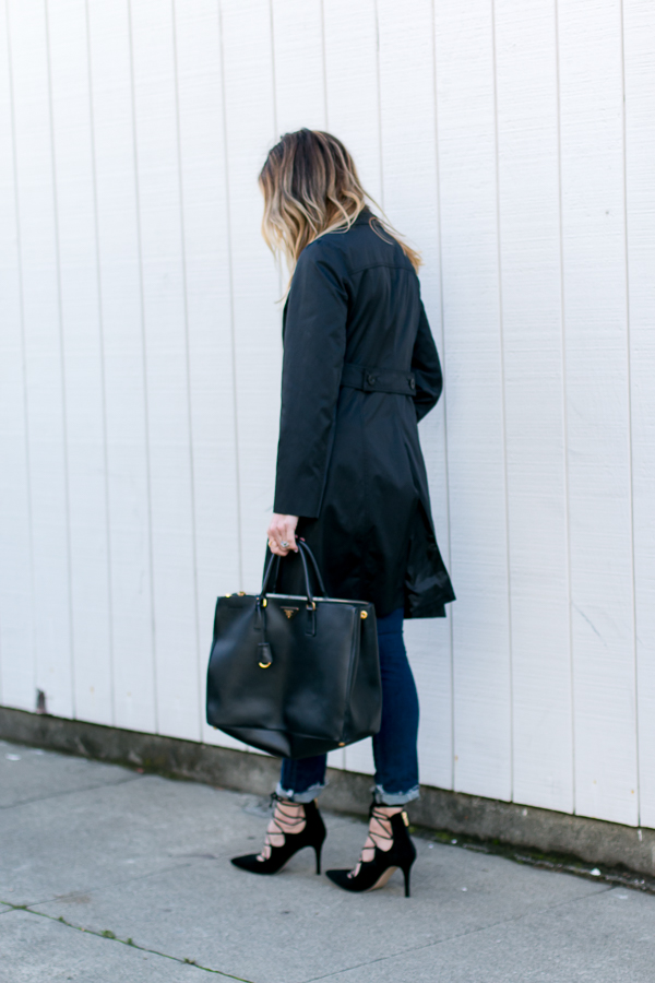 black trench coat style