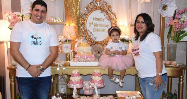 هكذا احتفلت ايمان أغوتان و زوجها بعيد ميلاد ابنتهما الثاني..صور