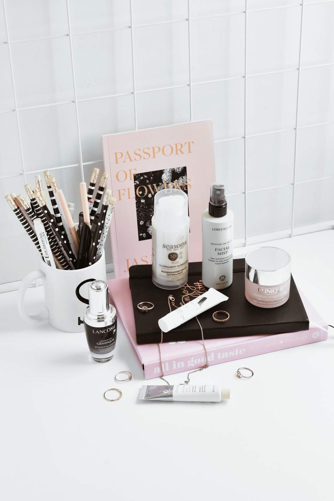 skincare routine day time easy five steps lancome glossier clinique a complete seasons mx beauty blogger de belleza mexicana noirette diary skincare 1
