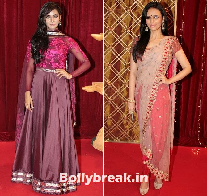 Mukti Mohan and Roshni Chopra on Indian Tele Awards 2013 Red carpet, Indian Tele Awards 2013 red Carpet Pictures - ITA - Lauren Gottlieb, Mouni Roy, Ratan Rajput
