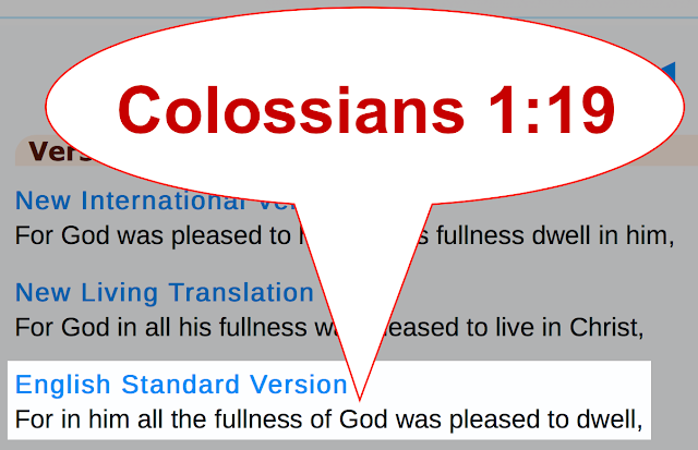 Colossians 1:19.