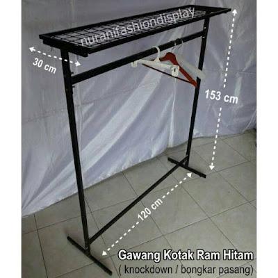Gantungan Gawang Ram Wiremeh Knock Down