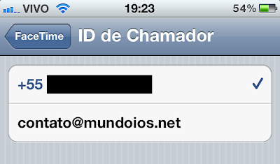 FaceTime - ID do Chamador