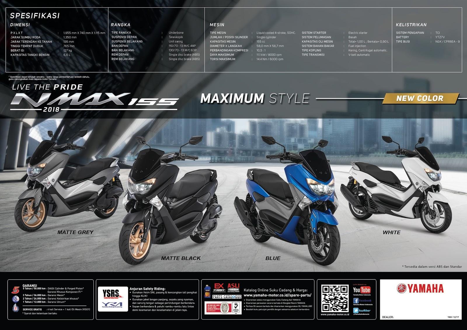 Nmax 2018 Harga Medan 4 Warna Baru Yamaha 2017 Facelift Kaos N Max Motor Lengan Panjang By Launching 155 Di Pontianak Live The