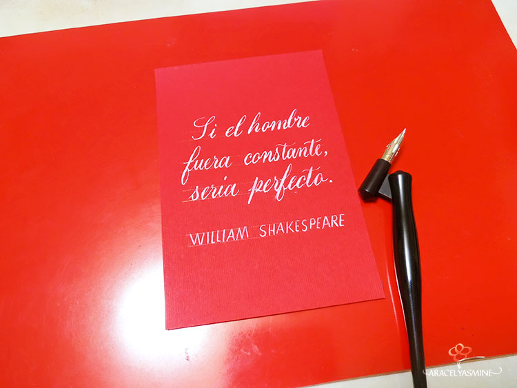 por que retome la escritura a mano caligrafia inspiracional