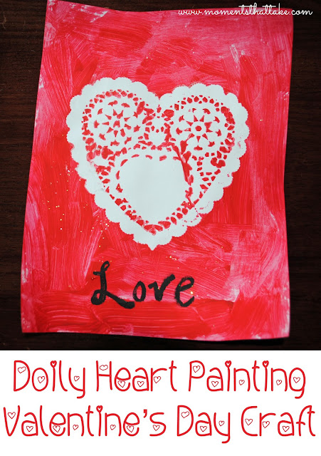 Valentine's Crafts for Preschoolers Heart Painting