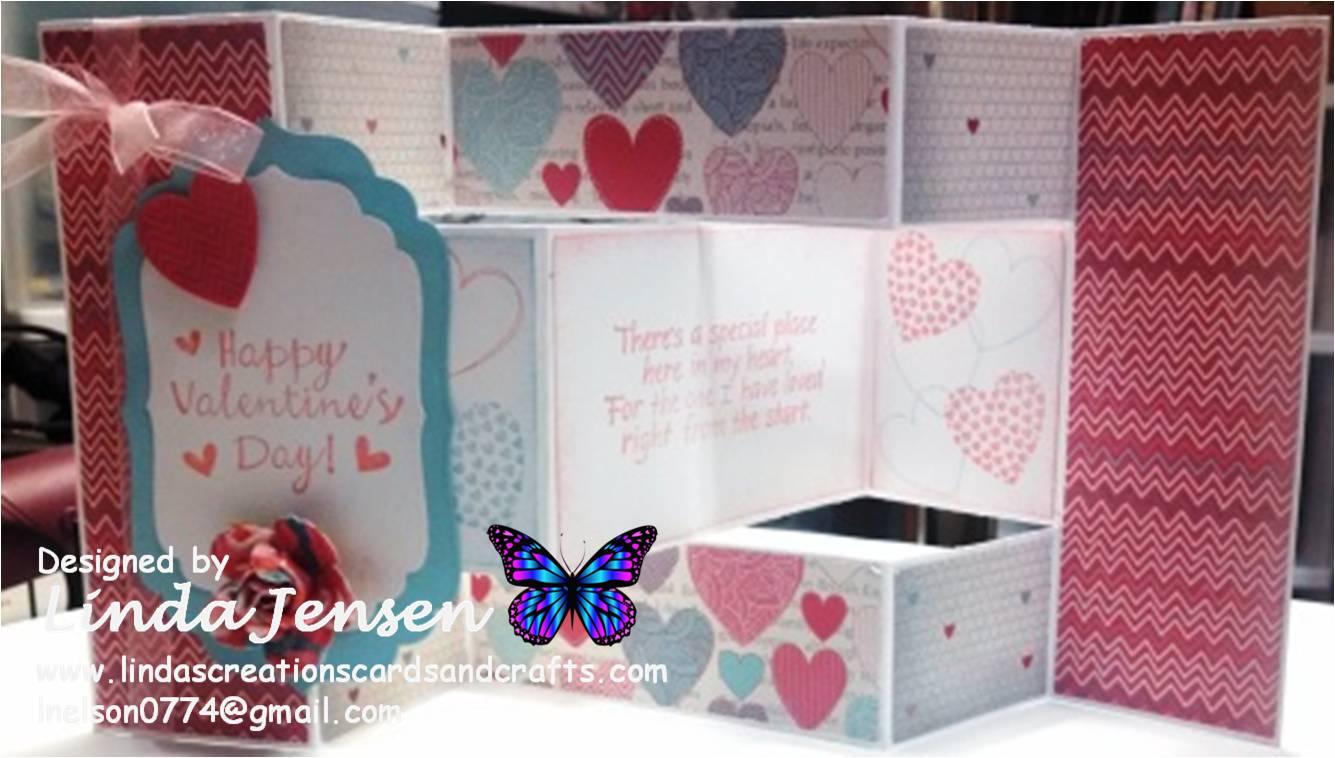 Linda's Creations Cards & Crafts: Tri Shutter Hearts A