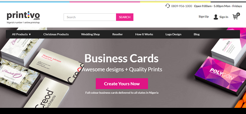 Printivo offers a simple and convenient process to print business and marketing materials