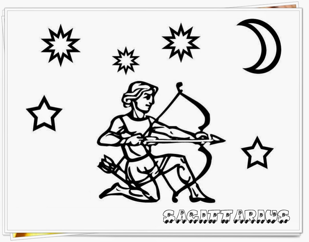 sagitarius printable zodiac coloring pages