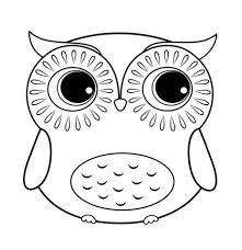 Adorable Owl Coloring Sheet For Kids Ages