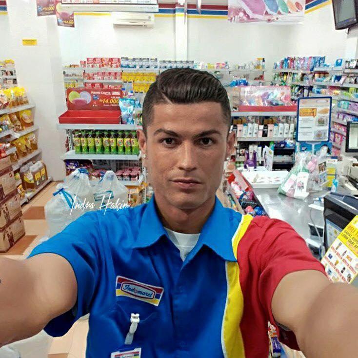 Ronaldo cr7 jadi edit photoshop