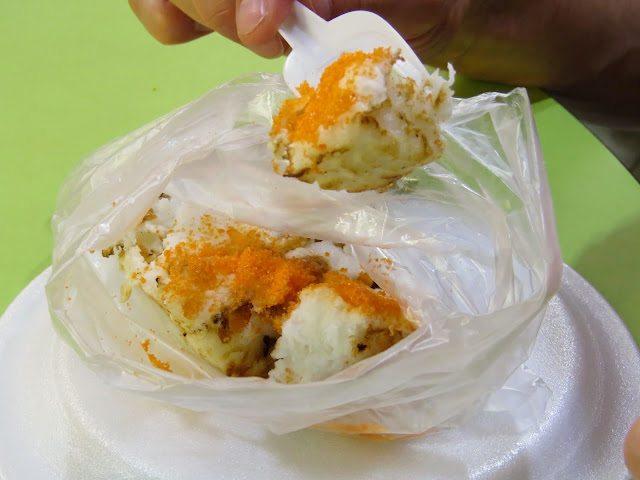 Coconut dessert at Geylang Serai hawker stalls in Singapore