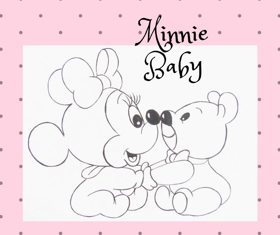 Artes Mariana Santos Desenho Minnie Baby