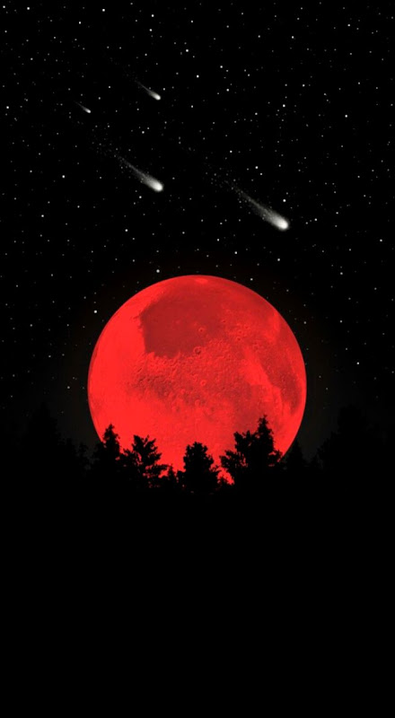 The red moon iPhone Wallpapers Wallpapers Pinterest